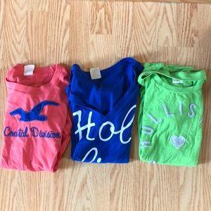 3 Hollister T-shirt's